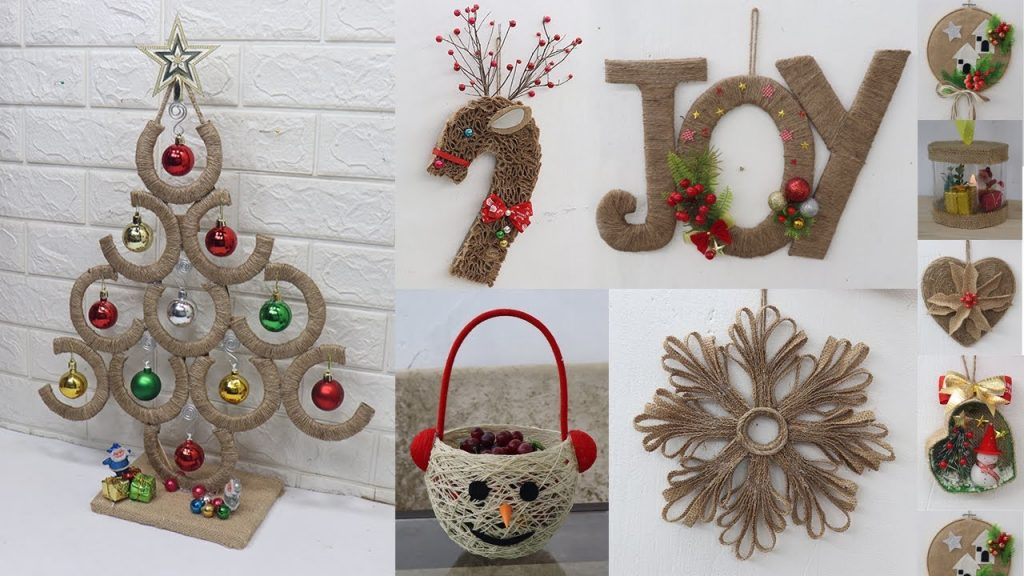 13 Jute craft Christmas decorations ideas | Home decorating ideas
