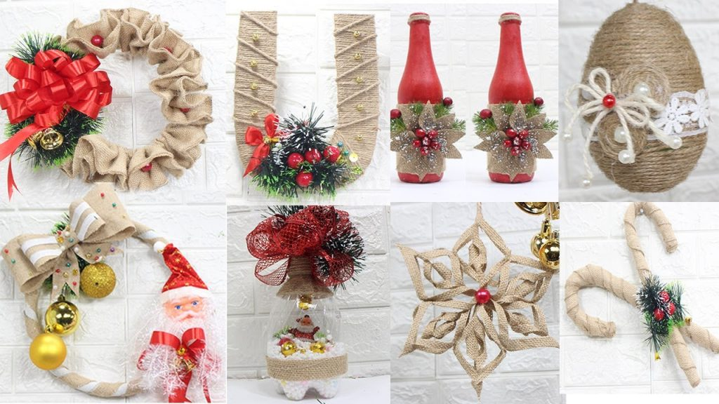 14 Jute craft Christmas decorations ideas | Home decorating ideas