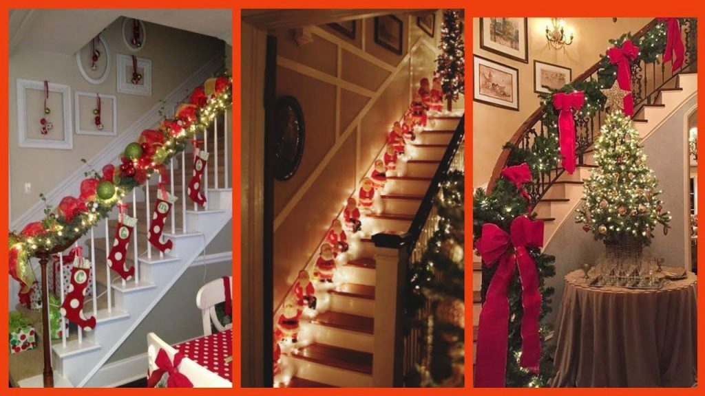 15 creative Christmas decorations for tiny apartments,stairs decoration ideas for christmas