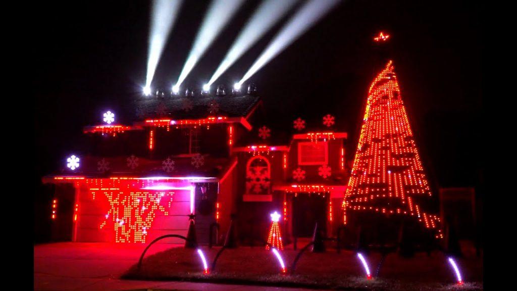 """2019 Christmas Light Show """"Sarajevo"""" by TSO (Trans-Siberian Orchestra)"""