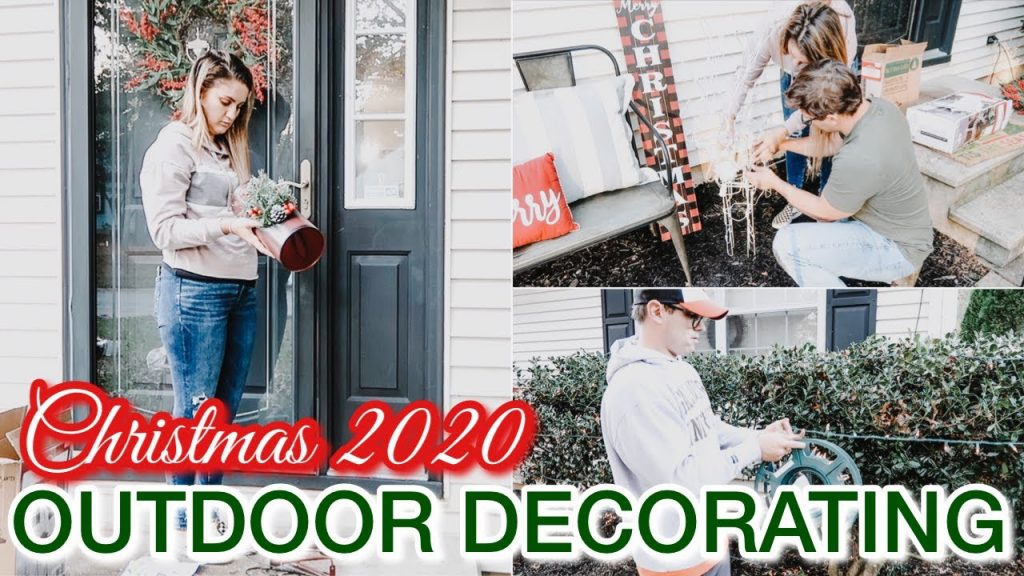 2020 CHRISTMAS DECORATE WITH ME OUTSIDE | OUTDOOR CHRISTMAS DECORATIONS | CLEAN + DECORATE WITH ME