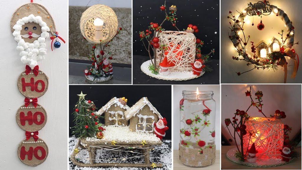 8 Jute craft Christmas decorations ideas | Home decorating ideas 2021