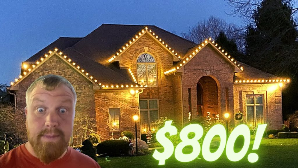 $800 Christmas Light Job Roof ONLY