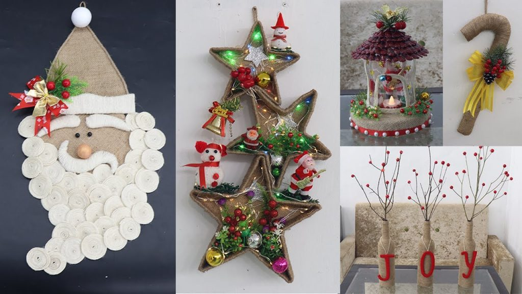 9 Jute craft Christmas decorations ideas | Home decorating ideas