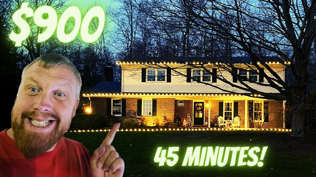 $900 Christmas Lights Job