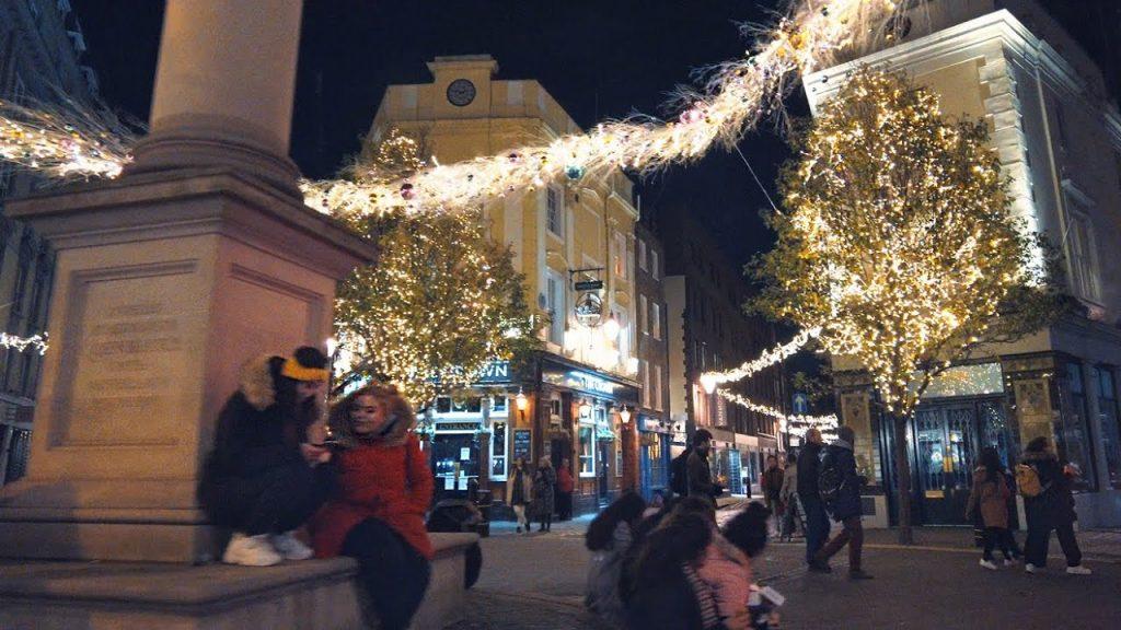 A Quietly Festive London Walk ✨ Soho to Seven Dials Christmas Lights 2020