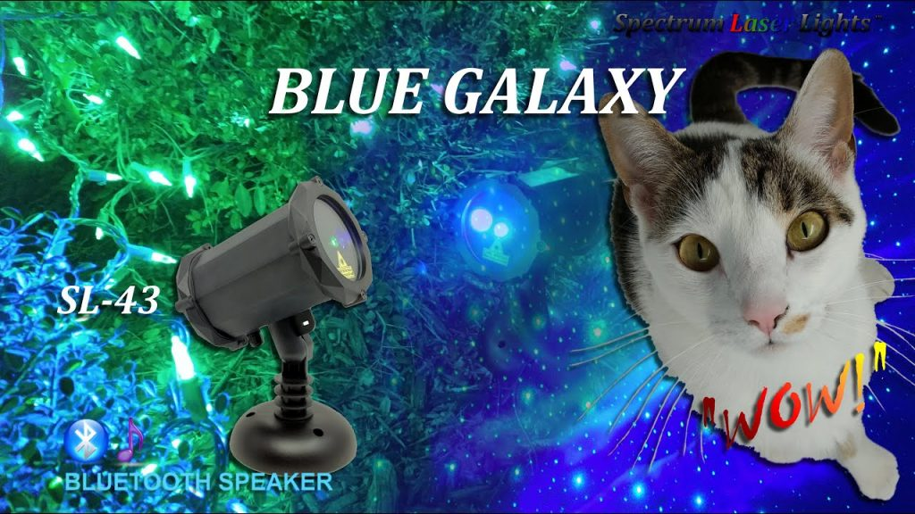 Blue Galaxy – SL 43 Green and Blue Laser Christmas Lights Projector from Spectrum Laser Lights