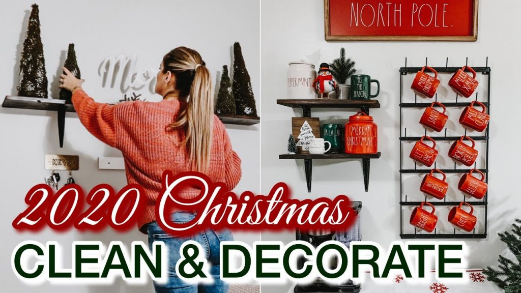 CHRISTMAS CLEAN AND DECORATE WITH ME | CHRISTMAS DECORATING IDEAS + CLEANING MOTIVATION 2020
