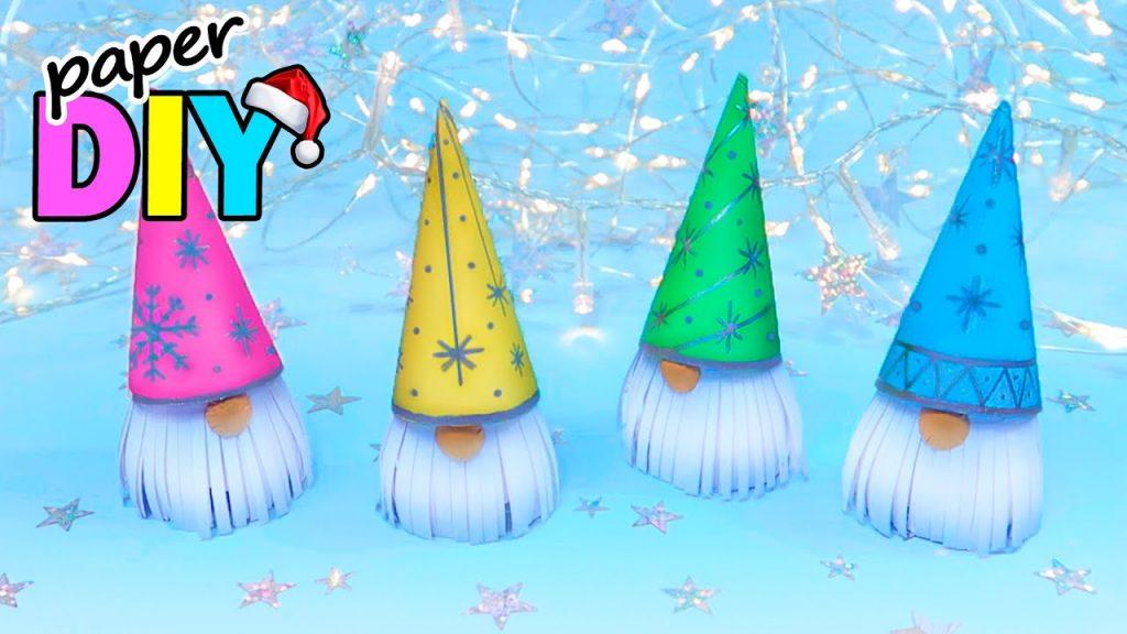CHRISTMAS DECORATIONS! DIY PAPER GNOMES