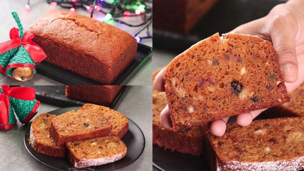 CHRISTMAS PLUM CAKE I EGGLESS & WITHOUT OVEN I CHRISTMAS FRUITS CAKE I CHRISTMAS SPECIAL