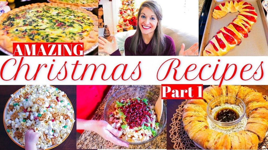 CHRISTMAS RECIPE IDEAS 2019 | breakfast and lunch | snow day snack mix