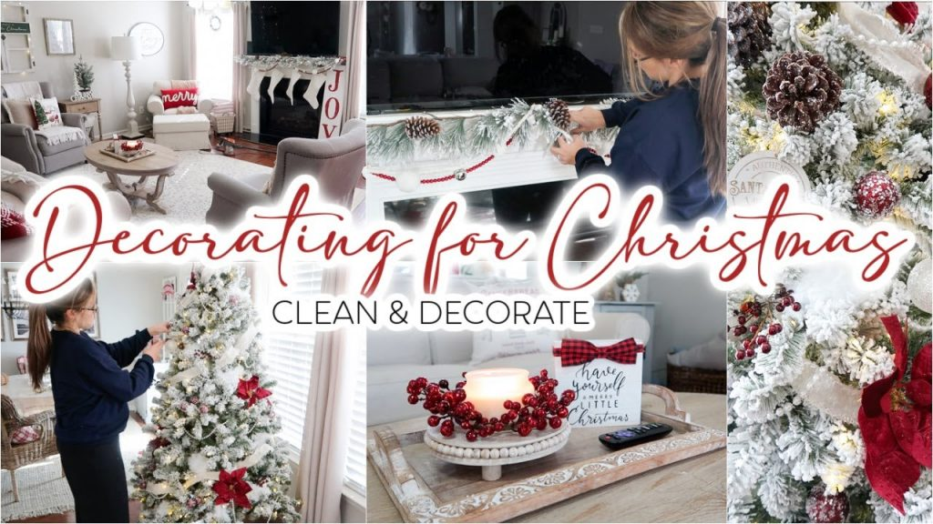 CLEAN & DECORATE WITH ME FOR CHRISTMAS 2020 | DECORATING MY CHRISTMAS TREE & CHRISTMAS DECOR IDEAS!
