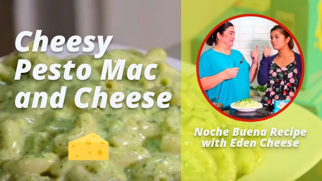 Cheesy Pesto Mac and Cheese | Christmas Recipe for Kids!