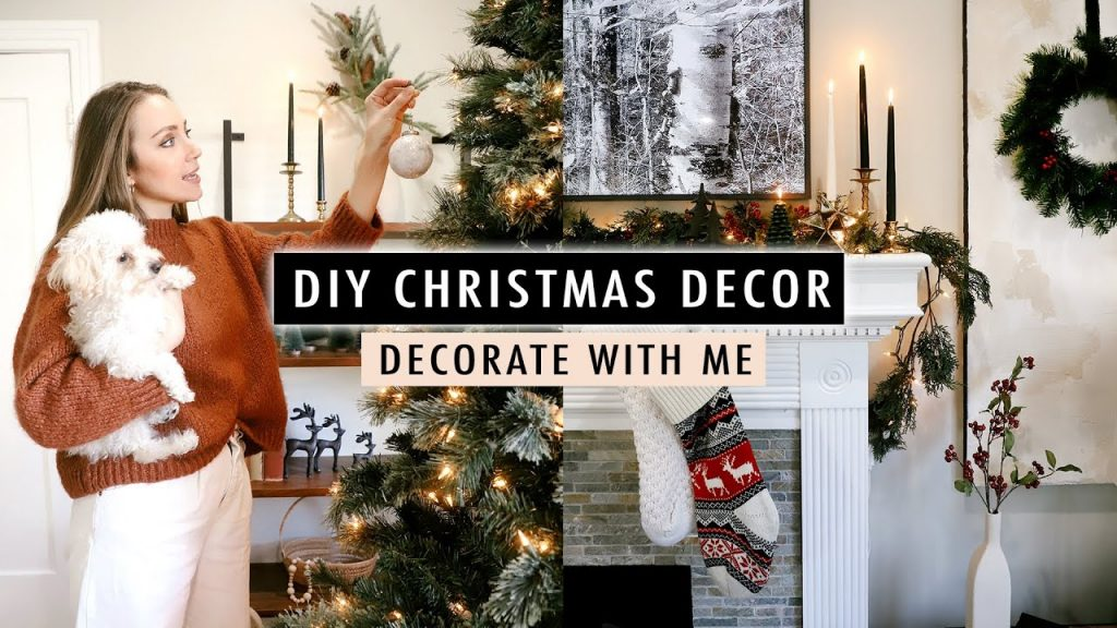 Christmas Decorate With Me + DIY Holiday Decor | XO, MaCenna