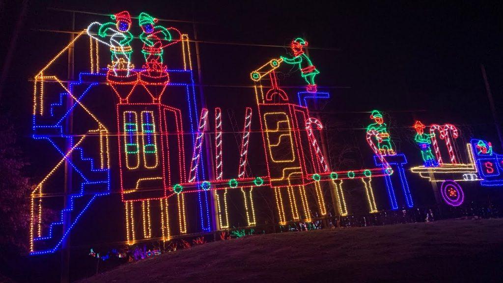 Christmas Light Show | Shady Brook Farm PA | Holiday Light Show | Drive Thru Light Show