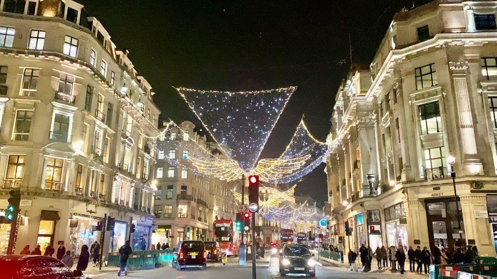 Christmas Lights London Regent Street 2020✨'The Warmth of Christmas' Angels Walk