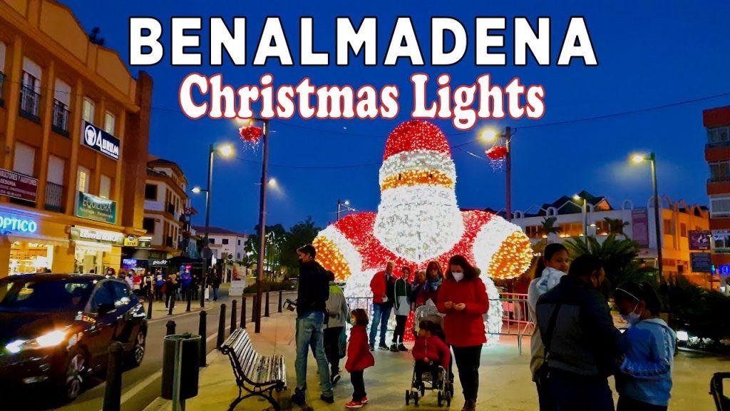 Christmas Lights in Benalmadena, Malaga, Spain 2020 [4K]