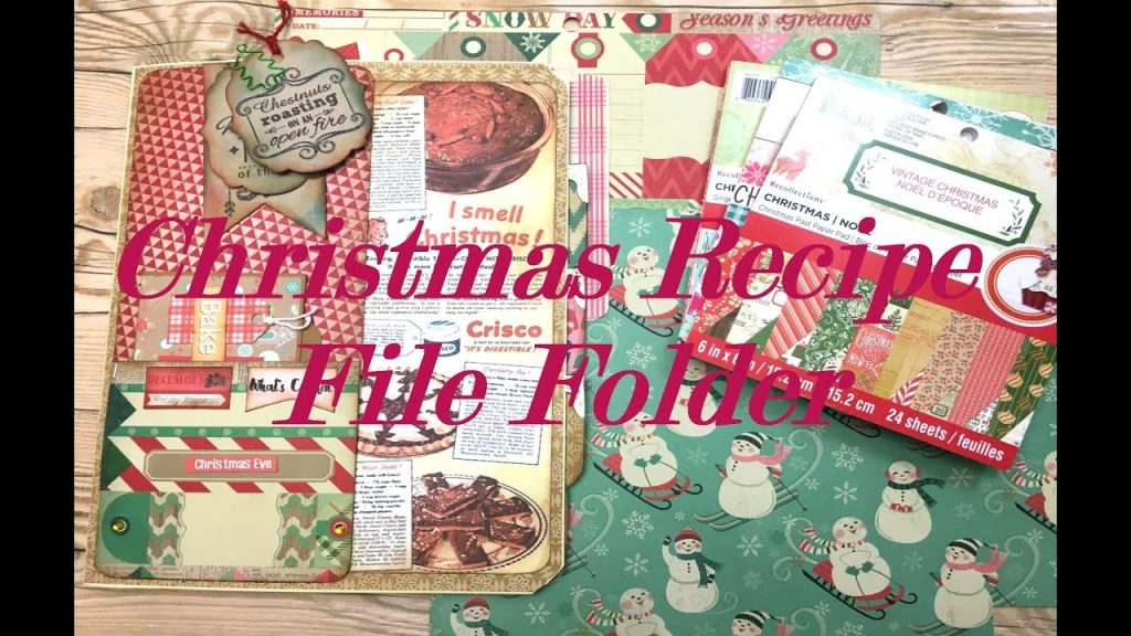 Christmas Recipe File Folder