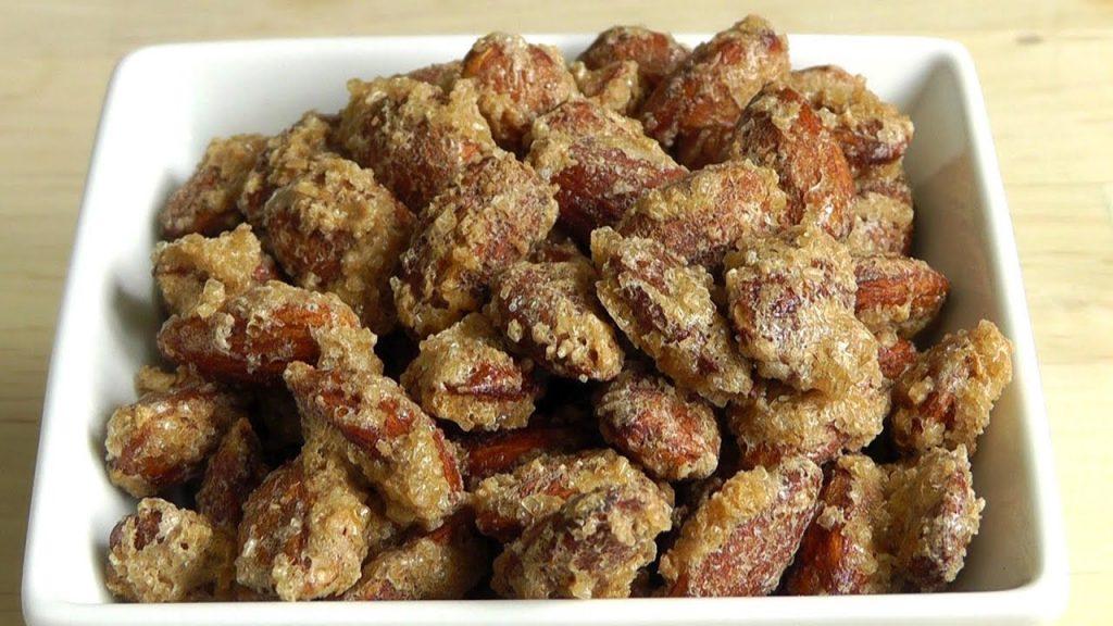 Christmas Roasted Almonds Sugar & Cinnamon Coating How to make recipe