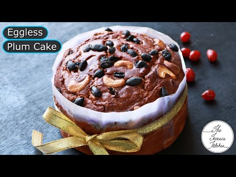 Christmas Special Eggless Plum Cake Recipe without Oven | Easy Plum Cake Recipe ~The Terrace Kitchen
