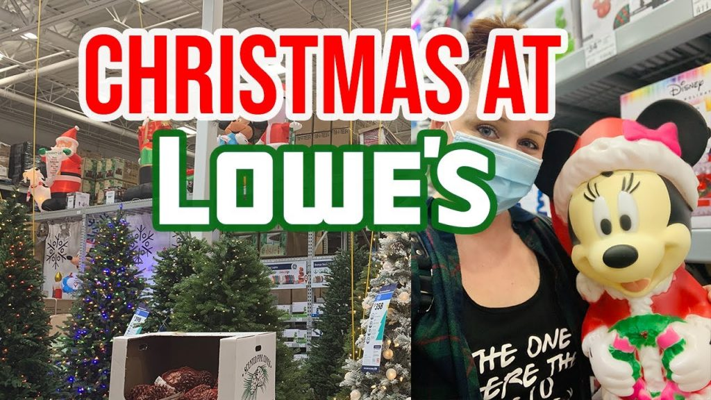 Christmas decoration shopping at Lowes