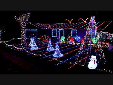 Christmas lights animated to Turn Down For What