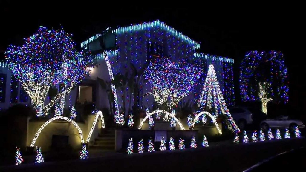 Christmas lights dancing to Amazing Grace music – contest winner Nellie Gail Ranch 2010
