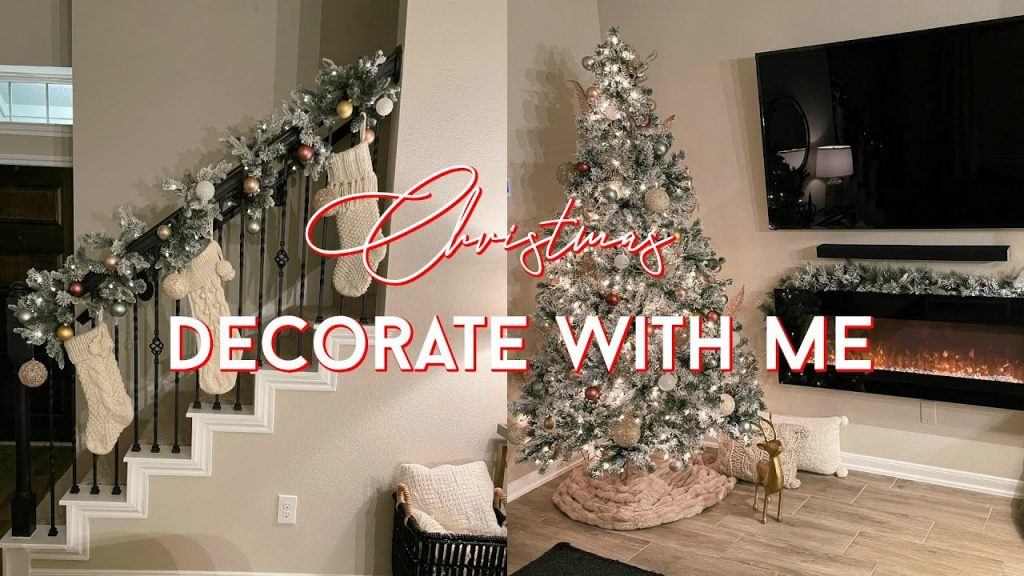 DECORATE WITH ME CHRISTMAS 2020 | CHRISTMAS DECOR IDEAS | DECORATING MY NEW HOUSE FOR CHRISTMAS!!