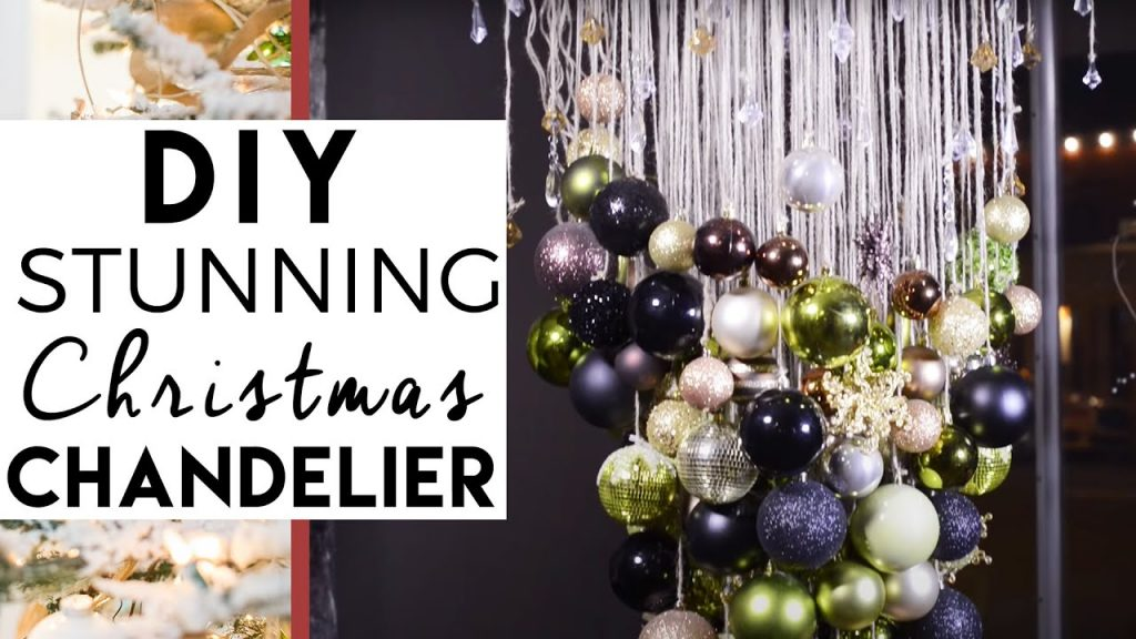 DIY Christmas Ball Chandelier | Christmas Decorations