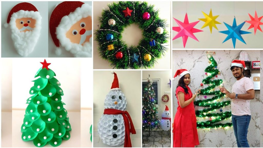 Easy 6 DIY Christmas Decoration Ideas | Christmas Crafts | Christmas Decoration ideas At Home.