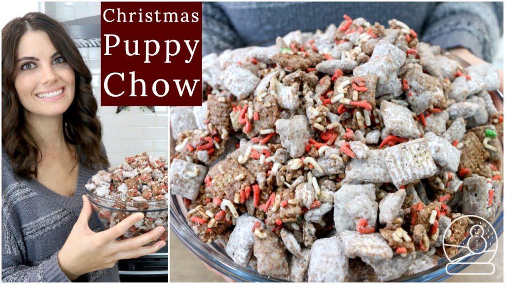 Easy Christmas Puppy Chow Recipe | Muddy Buddies