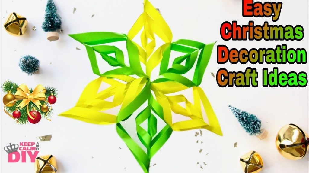 Easy Diy Christmas Decoration Craft ideas |Diy paper hangings for Christmas tree |#Christmascrafts