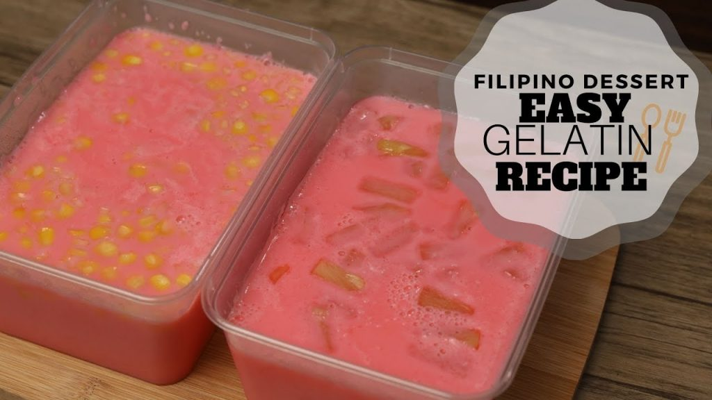 Easy Gelatin Recipe (Filipino Desserts) – Christmas Recipe
