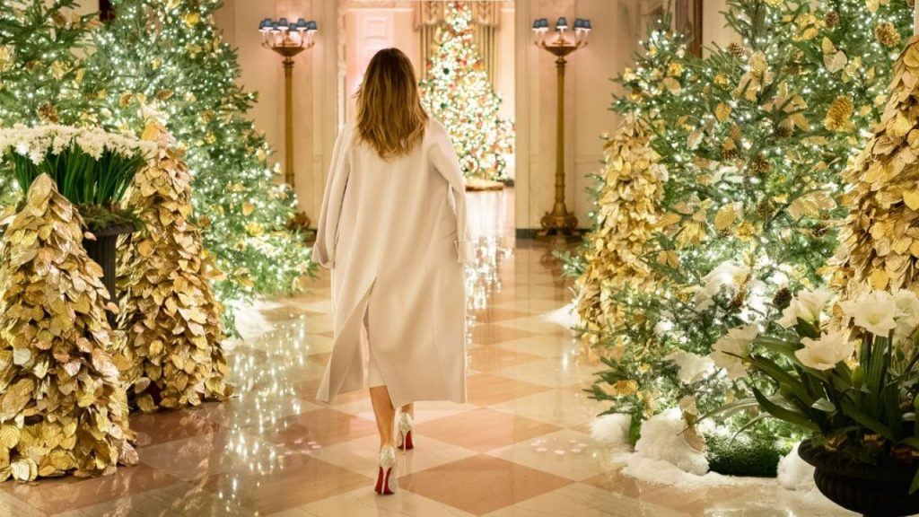 First Lady Melania Trump unveiled the 2019 White House Christmas decorations