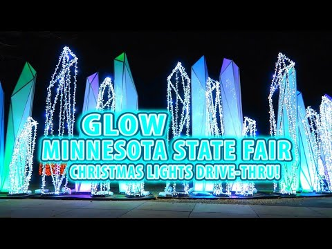 GLOW Holiday Festival – Minnesota State Fair! AMAZING DRIVE THRU CHRISTMAS LIGHTS DISPLAY!!!