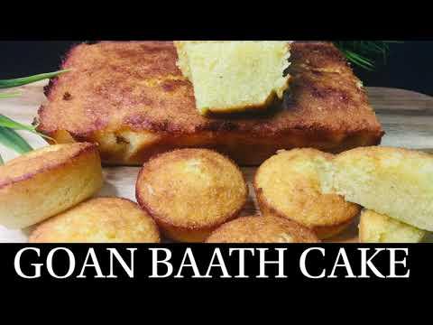 GOAN BAATH CAKE | COCONUT & SEMOLINA CAKE | BATICA RECIPE | CHRISTMAS RECIPE- BY NATASHA