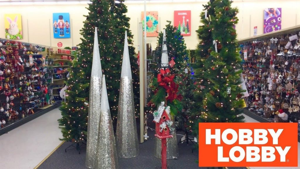 HOBBY LOBBY CHRISTMAS DECORATIONS CHRISTMAS TREES HOME DECOR SHOP WITH ME SHOPPING STORE WALKTHROUGH