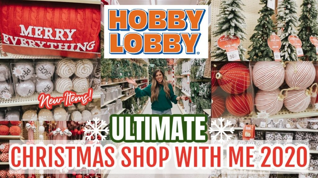 🎄HOBBY LOBBY CHRISTMAS SHOP WITH ME 2020 | FARMHOUSE CHRISTMAS DECORATING IDEAS 2020