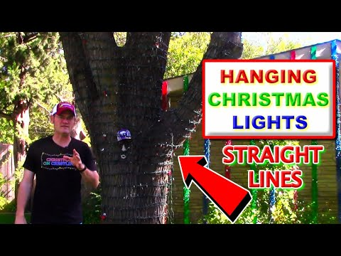 How To Hang Christmas Lights In Trees | Straight Lines!!!