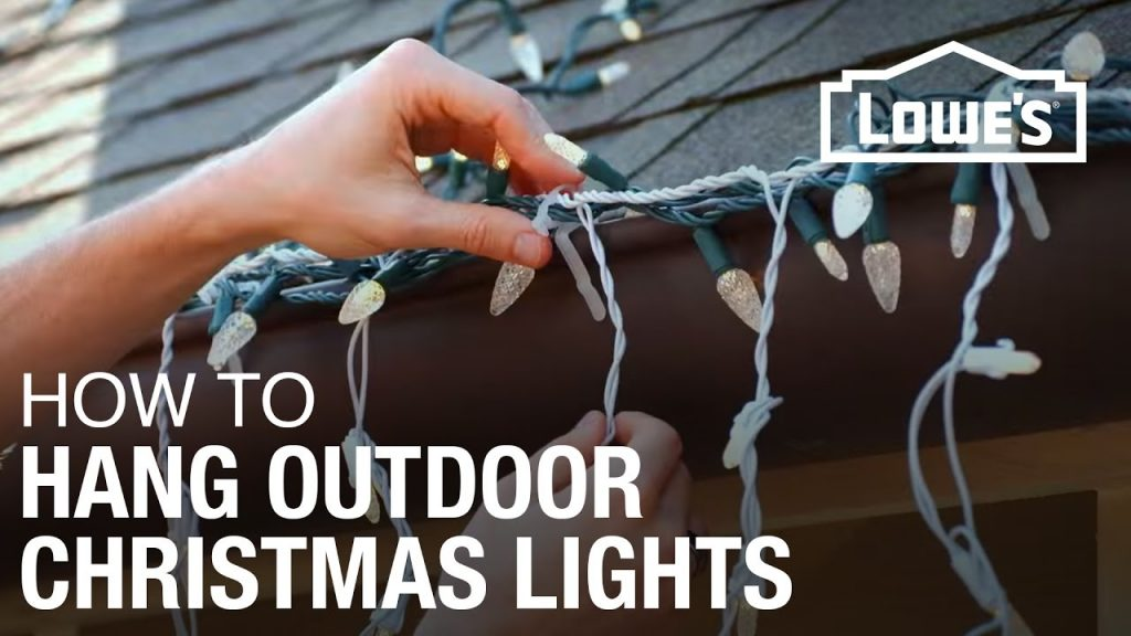 How To Hang Exterior Christmas Lights