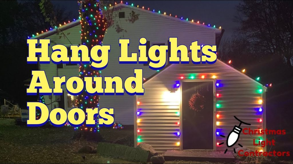 How to hang Christmas Lights on vinyl siding, door/windows – NO staples, nails, or clips
