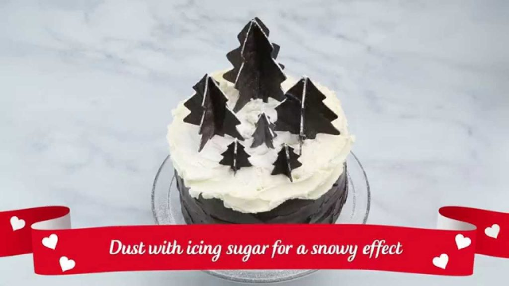 How to make EDIBLE 3D CHOCOLATE CHRISTMAS TREES decoration | Christmas Recipe
