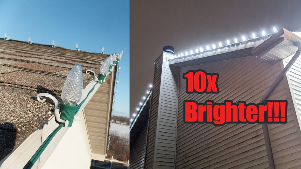 I Put COMMERCIAL Christmas LIGHTS on My ROOF!!!