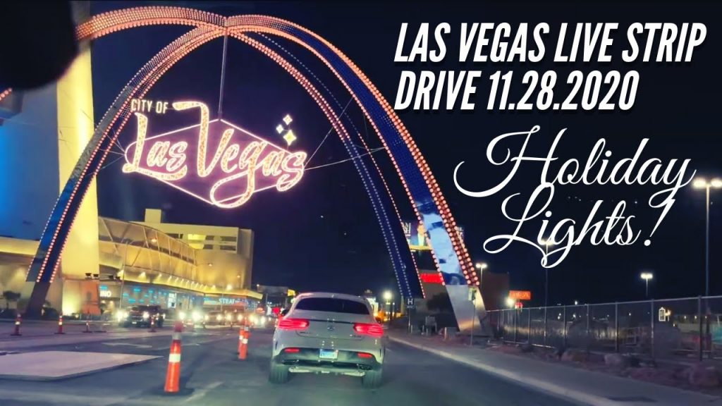 LAS VEGAS LIVE STRIP DRIVE | CHRISTMAS LIGHTS Las Vegas Speedway 2020!