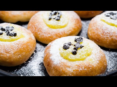 LEMON CURD BUN l CHRISTMAS RECIPE l EGGLESS & WITHOUT OVEN