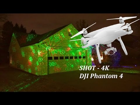 Laser Christmas Lights moving to Crystallize – Lindsey Stirling (Dubstep) DJI Phantom 4 Drone