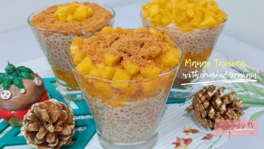 MANGO TAPIOCA WITH CRUSHED GRAHAM | CHRISTMAS RECIPE [English Sub]