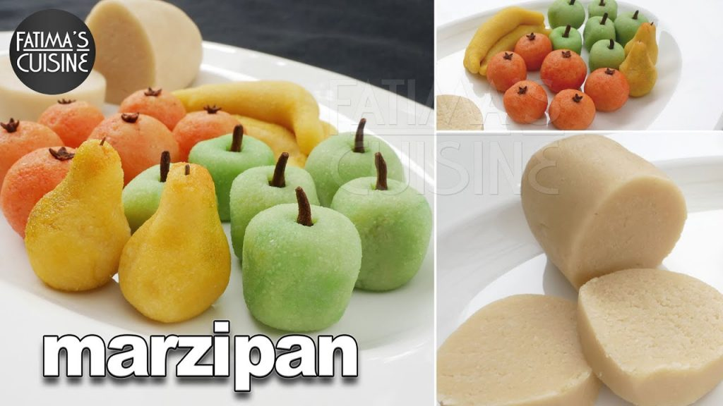 Marzipan Quick & Easy Recipe | 2 Ingredient Eggless Marzipan Recipe | Christmas Sweet