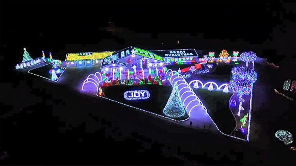 Mind Blowing New Light Show Preston Family Christmas – Full Aerial Sync Wizards In Winter