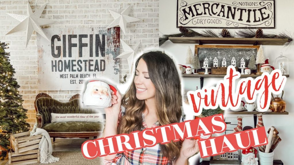 NEW! FARMHOUSE CHRISTMAS DECOR HAUL 2020 | VINTAGE CHRISTMAS DECORATING IDEAS